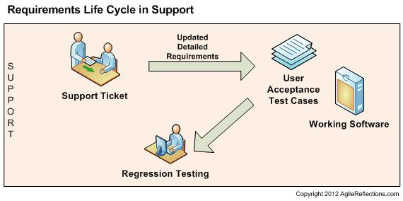 Requirements Life Cycle in Support